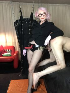 Rubber Strap On Harness